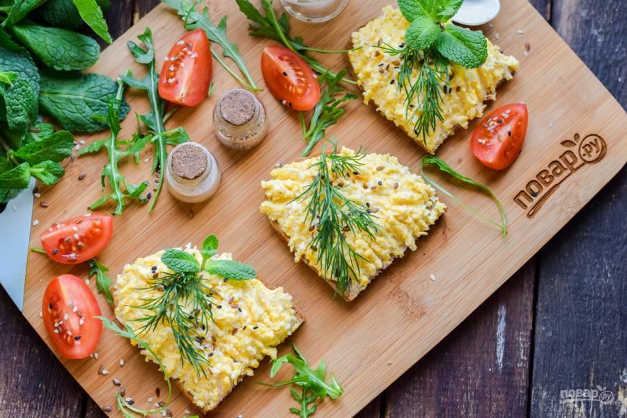 Бутерброды с яйцом и сыром