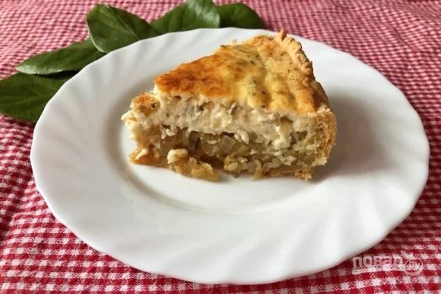 Луково-яблочный пирог