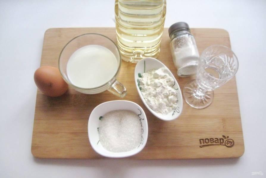 Возьмите все ингредиенты для приготовления урамы.