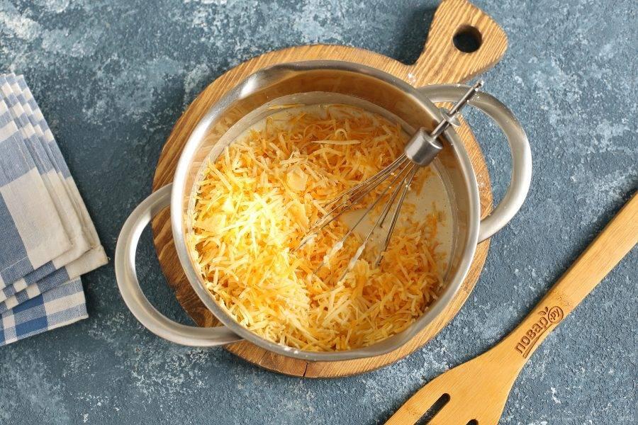 В самом конце добавьте тертый сыр.