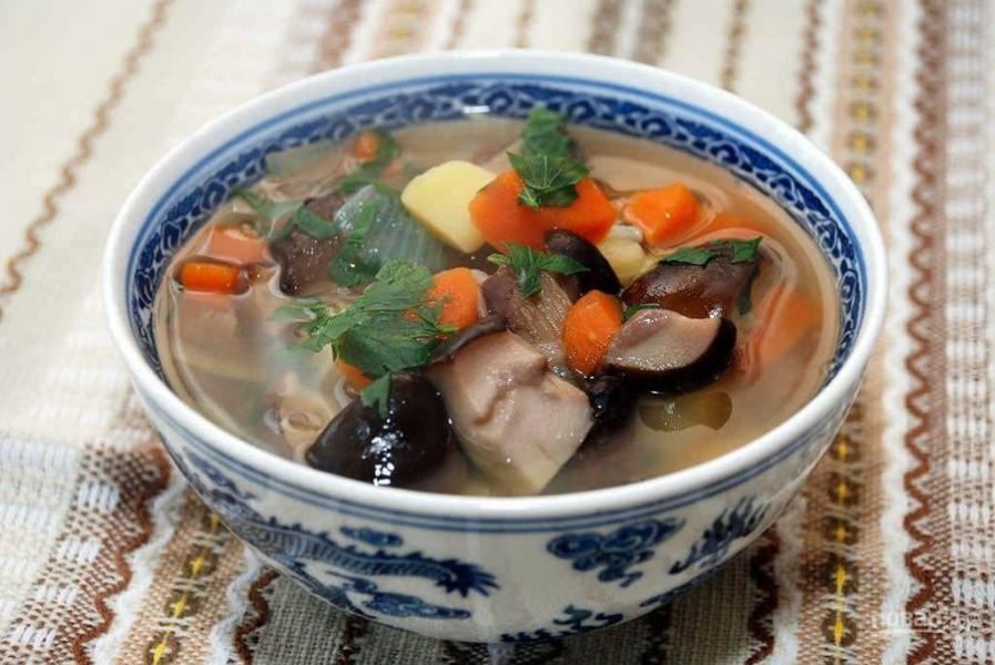 Суп из белых грибов готов, приятного аппетита!