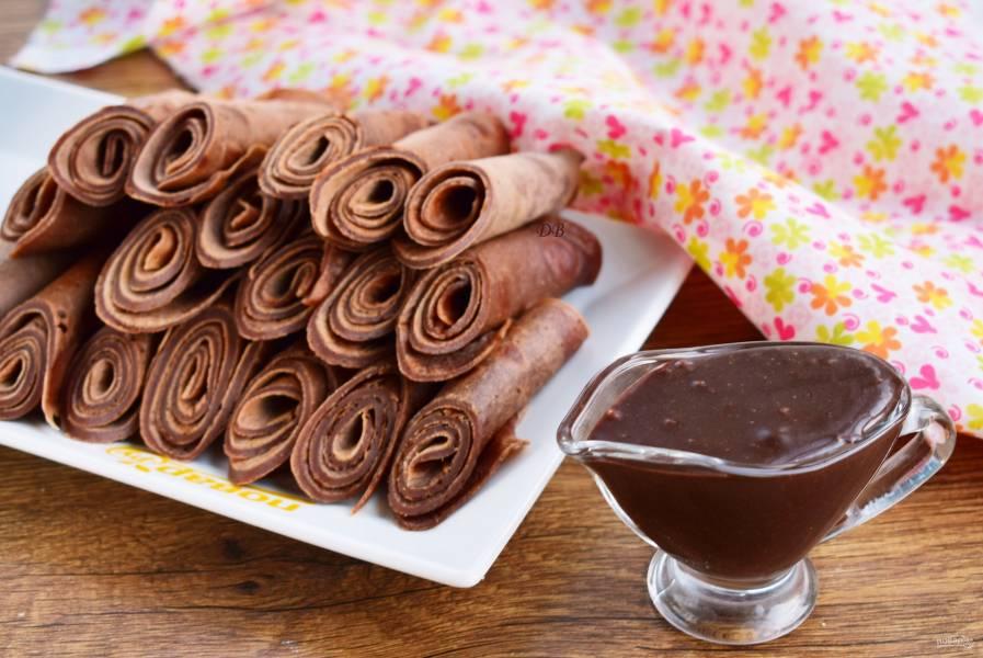 Вкусные шоколадные блины