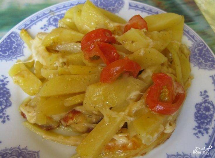 Картошка с сыром сулугуни