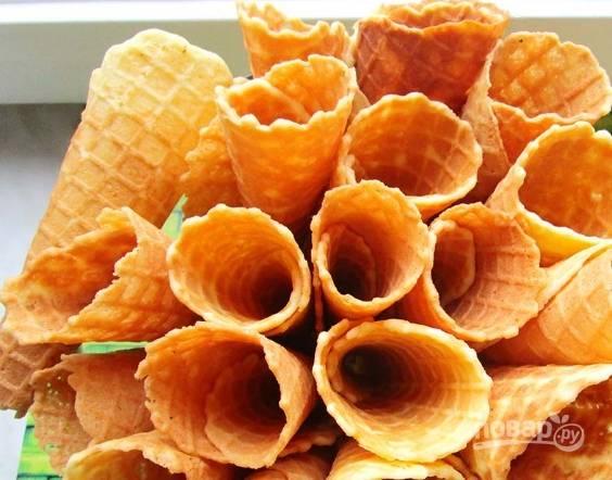 Вафельные трубочки в вафельнице