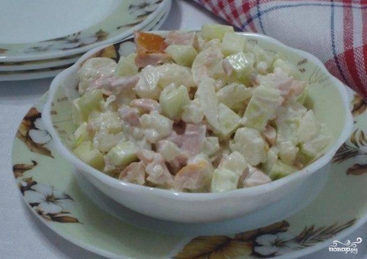 Салат с цветной капустой с майонезом