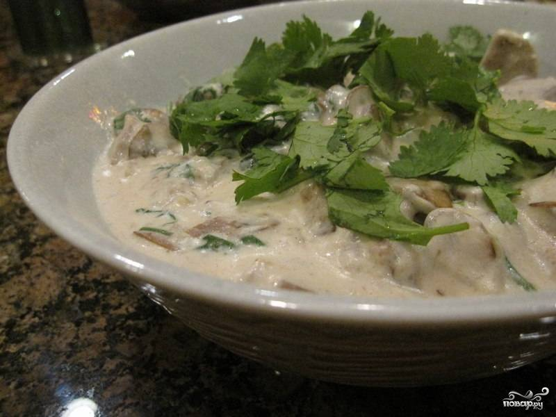 8. Перед подачей украсьте блюдо зеленью петрушки или кинзой.