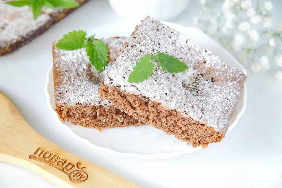 Шоколадно-мятный пирог