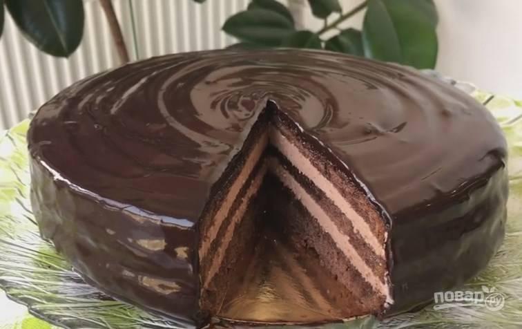 12. Вот такой красивый, сочный торт с потрясающим вкусом у вас должен получиться!
