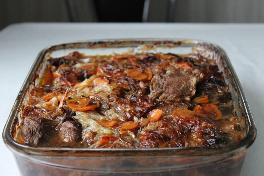 Вот такой красивый ромштекс получается из говядины с черносливом.