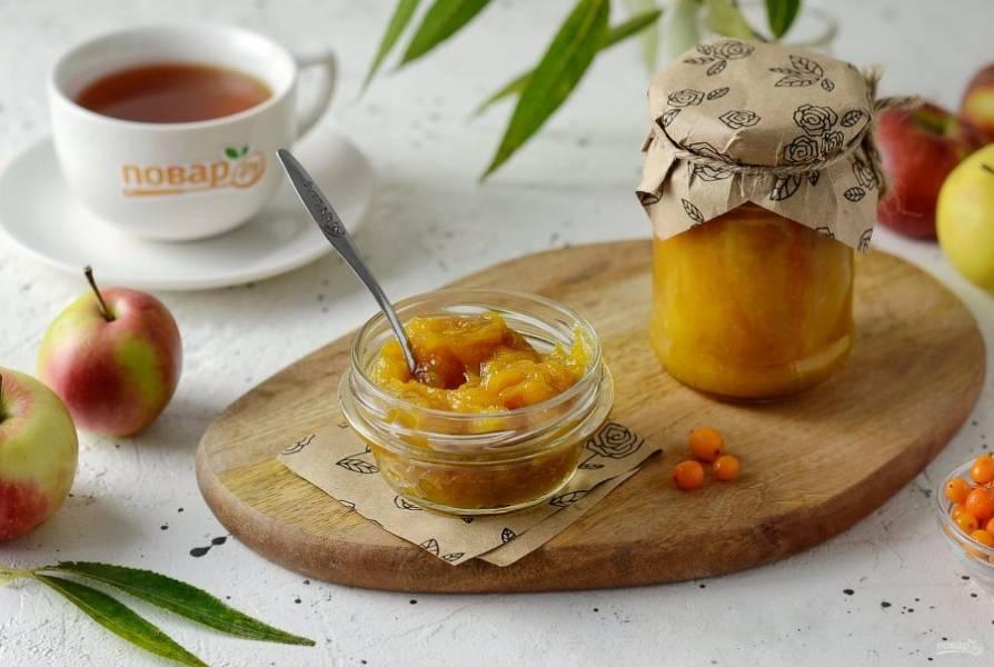 Варенье из яблок с облепихой готово, приятного аппетита!