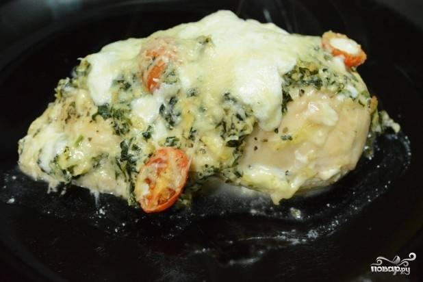Курица, фаршированная сыром