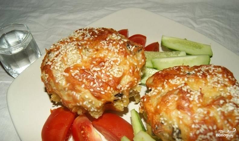 Маффины с курицей и грибами