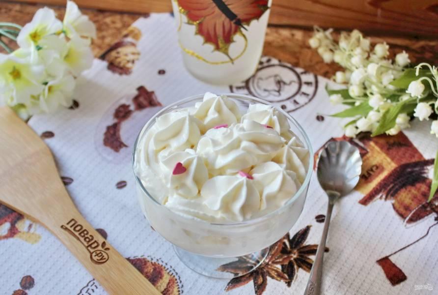 Сметанно-творожный крем для торта