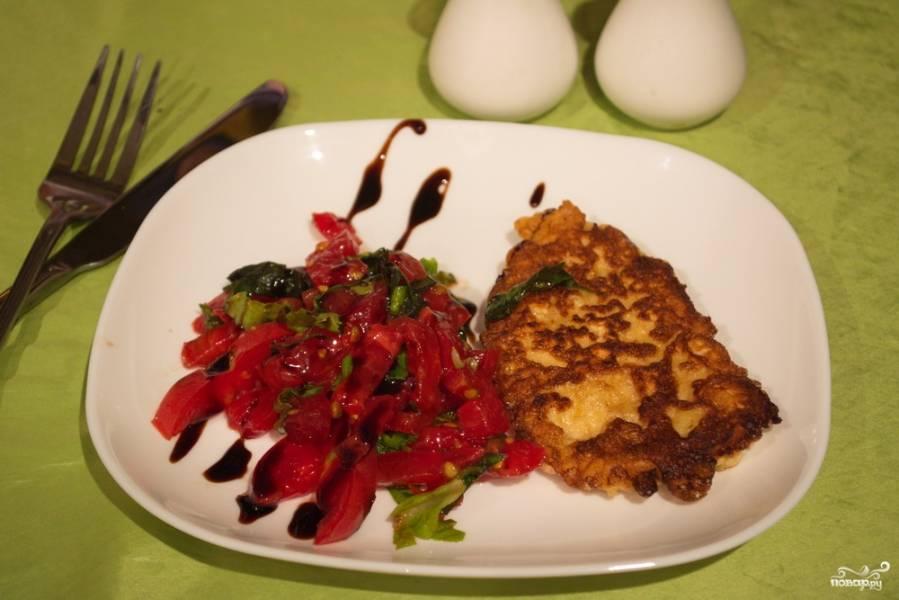 Куриное филе с помидорами
