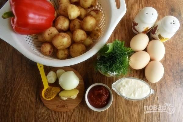 Подготовьте необходимые продукты. Овощи  и зелень помойте. Лук, чеснок и имбирь очистите.