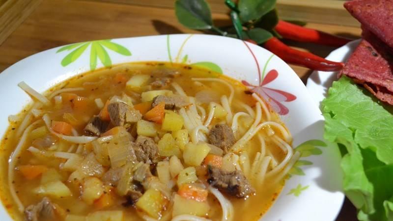 3. И вот так быстро мы получаем полноценный вкусный суп!