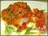 Треска с морковью и луком готова! Посыпать зеленью и можно подавать к столу.