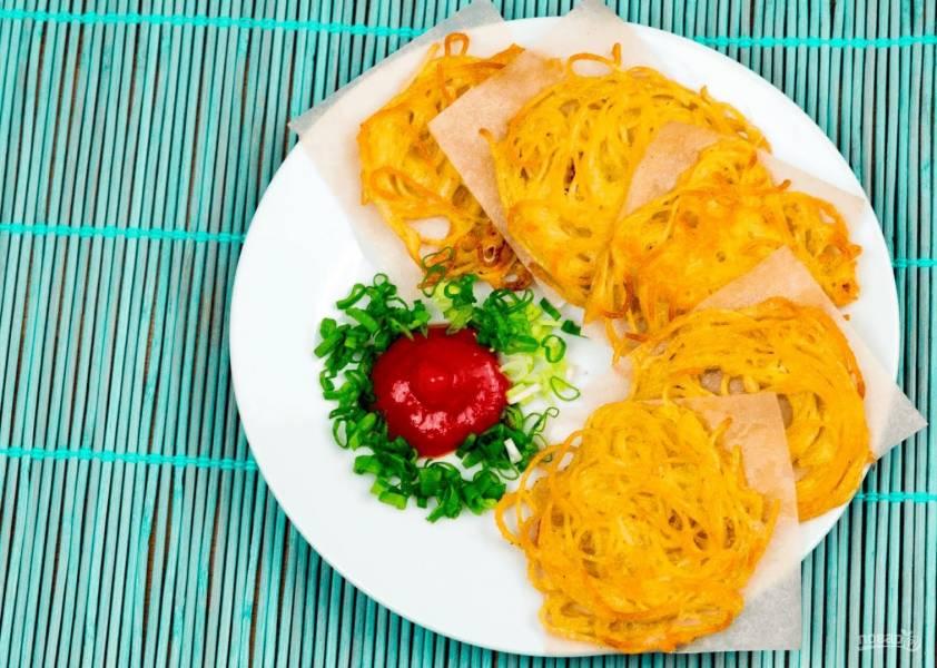 Чипсы из спагетти