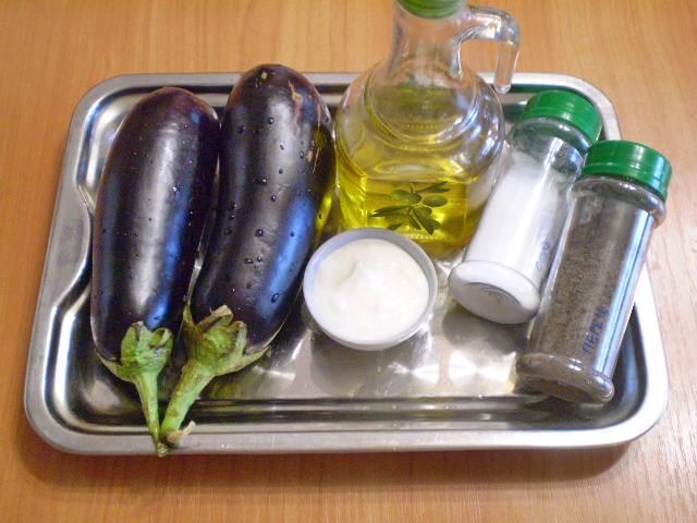1. Приготовим продукты для закуски.
