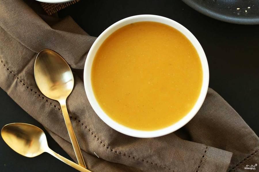 Постный суп из тыквы
