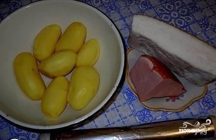 Приготовить продукты, картофель почистить.