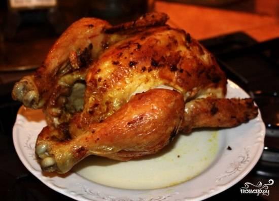 Курица в рукаве в микроволновке