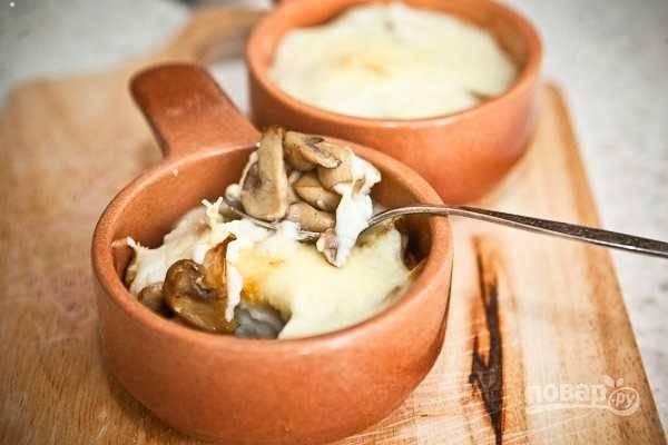 Жюльен с грибами (традиционный рецепт)