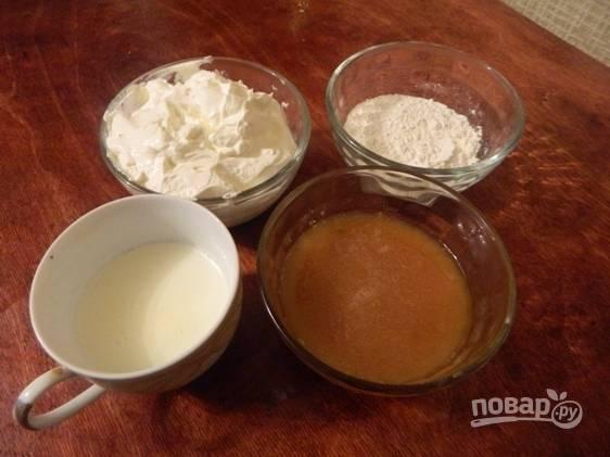 Вот небольшой набор продуктов для приготовления вкусного десерта балкаймак.