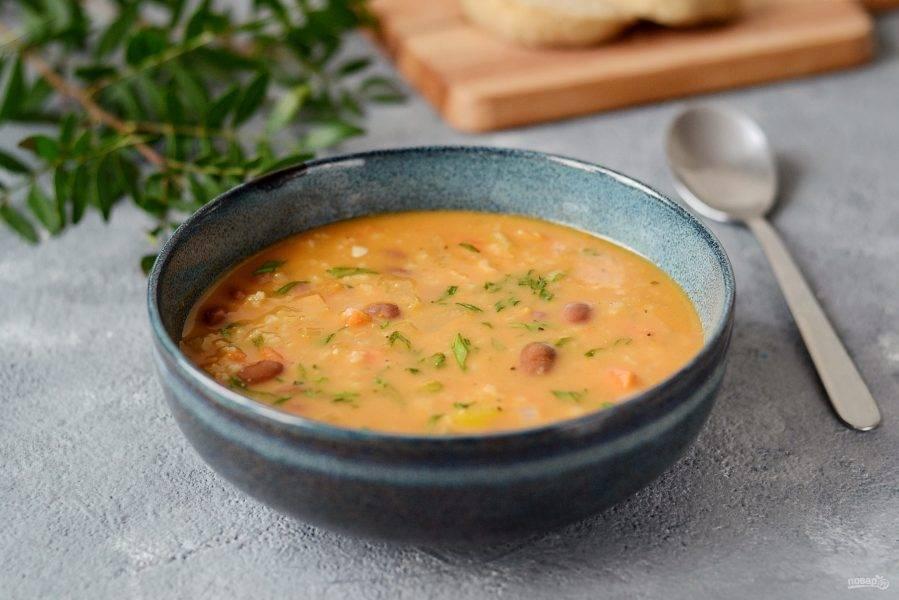 Карибский суп готов. Приятного аппетита!