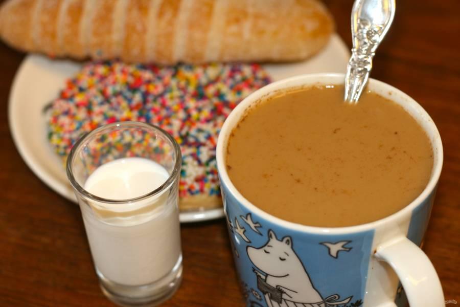 Кофе с молоком (рецепт)