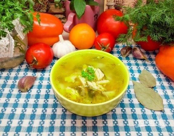 12.Настаиваю суп под закрытой крышкой 10-20 минут, после чего разливаю по тарелкам и подаю к столу горячим.