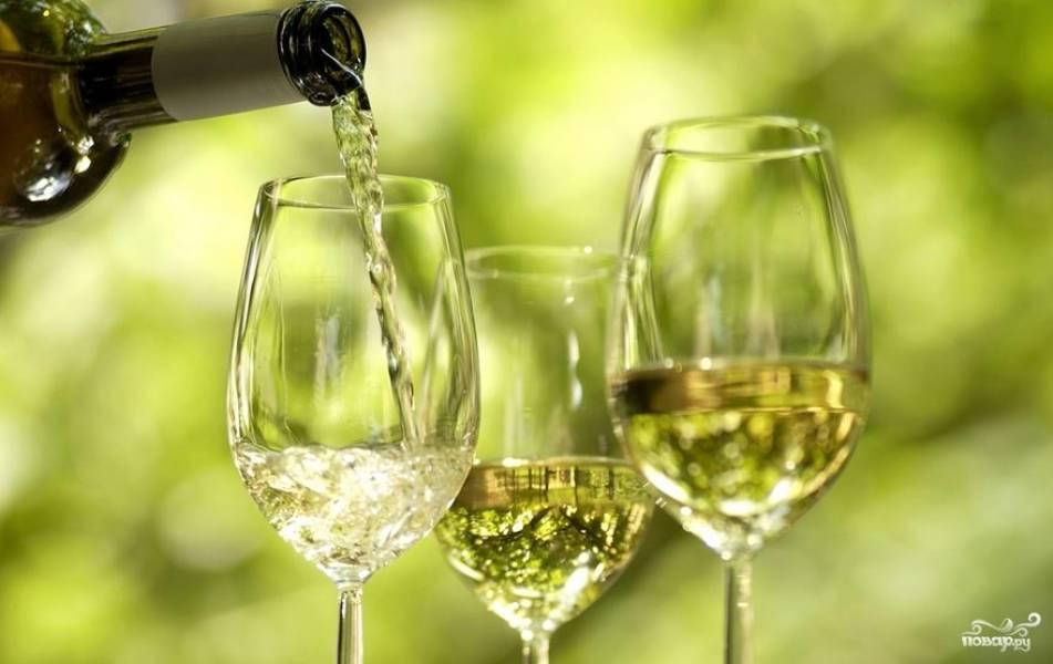 Белое вино полусладкое