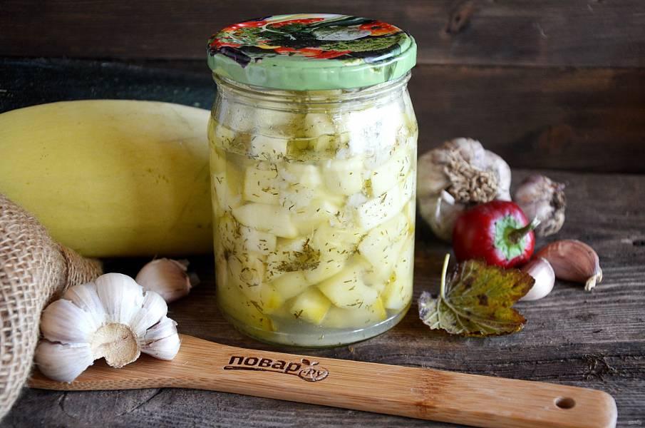 Салат из кабачков на зиму с чесноком