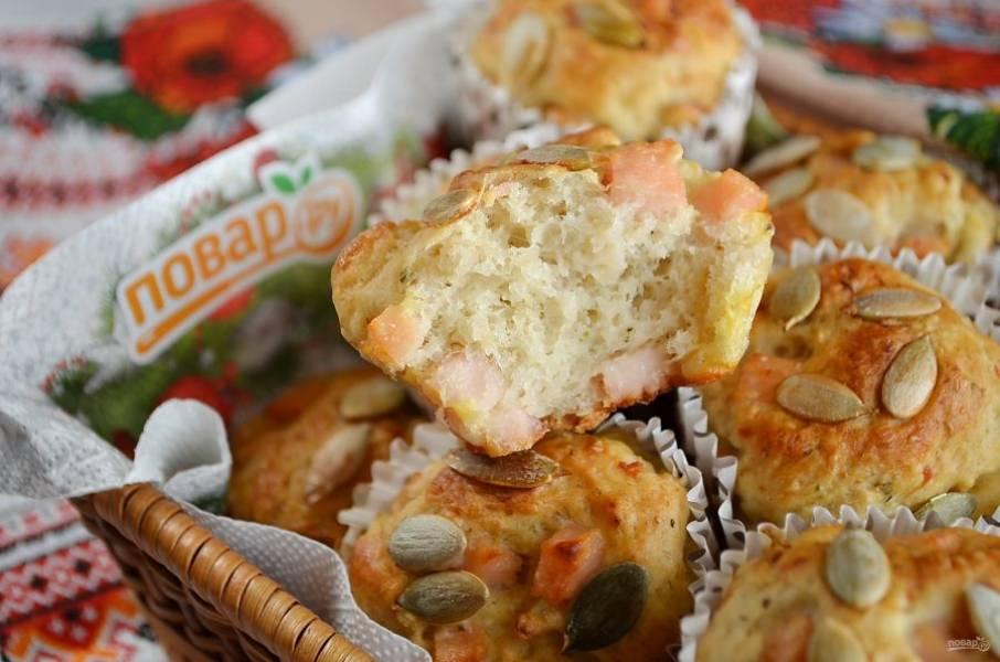 12. Словацкие закусочные булочки готовы! Очень ароматные и вкусные, угощайтесь!