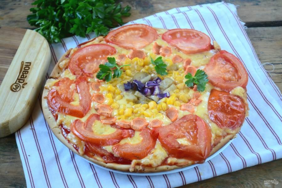 """Овощная пицца """"Солнышко"""""""