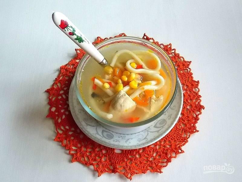 Овощной куриный суп