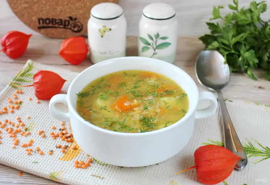 Суп из чечевицы с имбирем