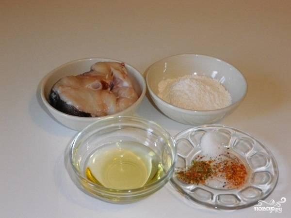 1. Вот такой весьма скромный набор ингредиентов вам понадобится, чтобы повторить рецепт приготовления стейка трески в мультиварке на вашей кухне.