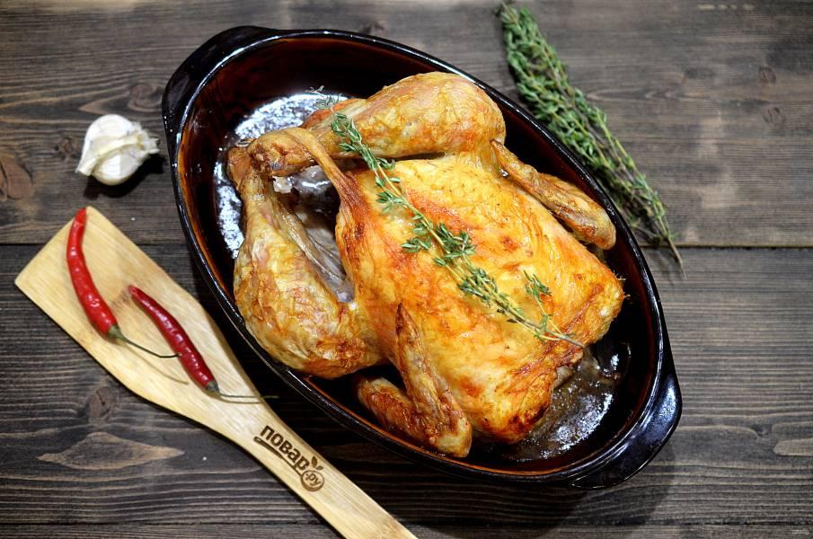 Курица целиком в фольге в духовке