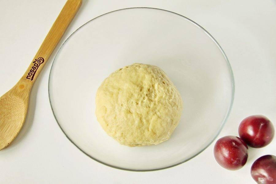 Замесите плотное, но достаточно мягкое тесто.