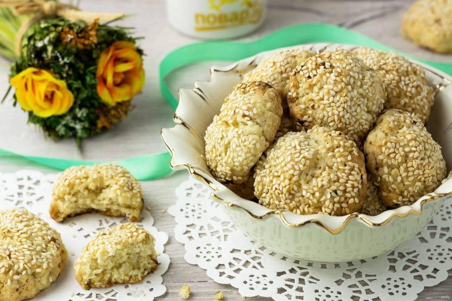 Наше печенье готово! Очень вкусно с чаем или  молоком! Приятного аппетита!