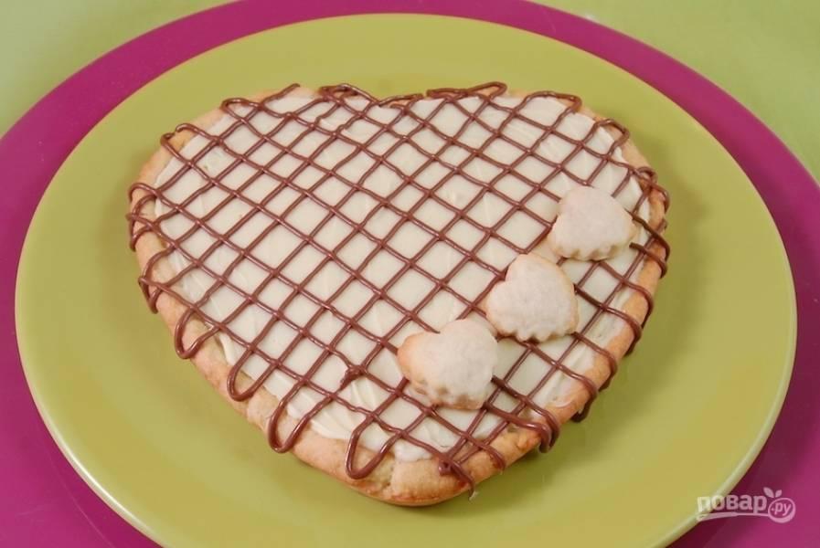 Пирог с белым шоколадом на День Валентина