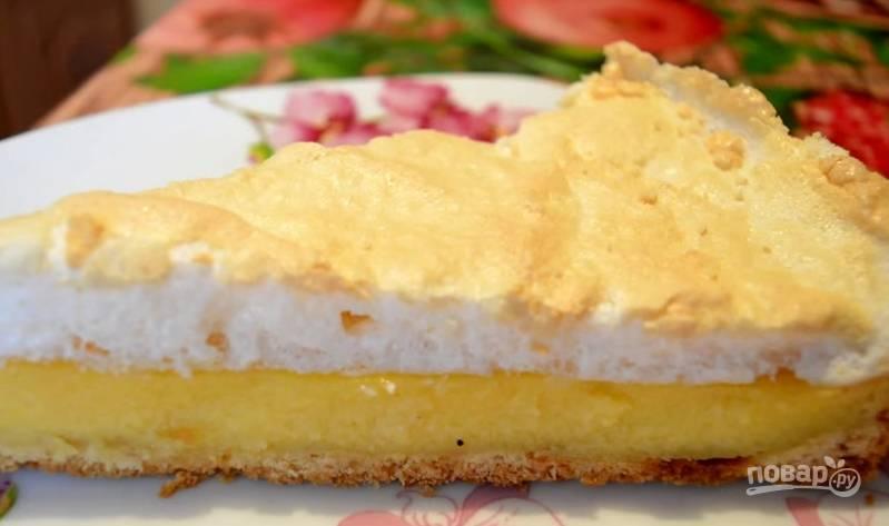 7. Когда пирог остынет, можно начинать лакомиться :)