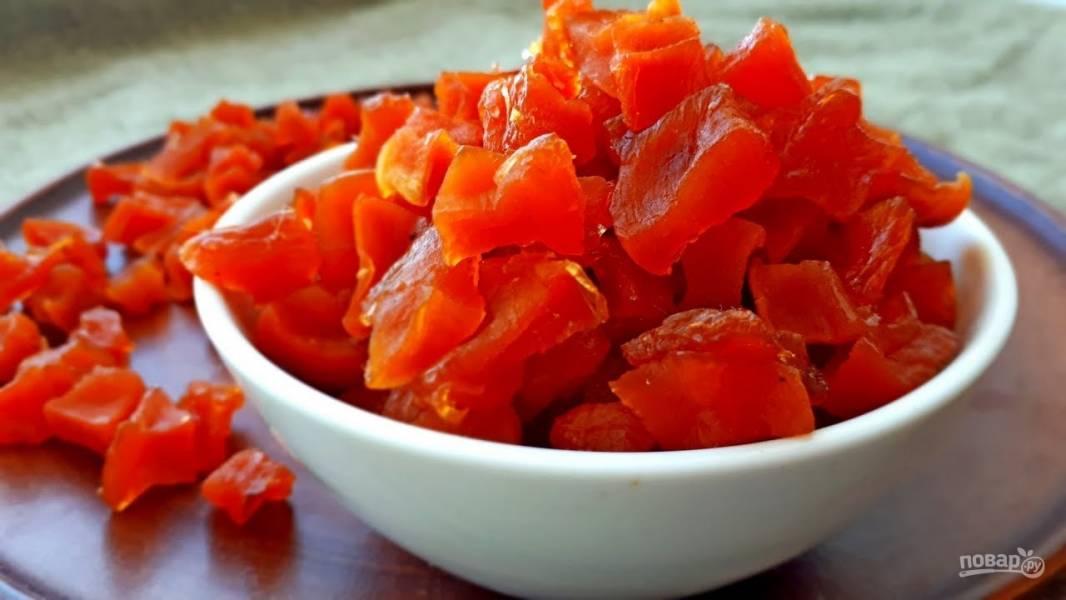 Вкусные цукаты из тыквы