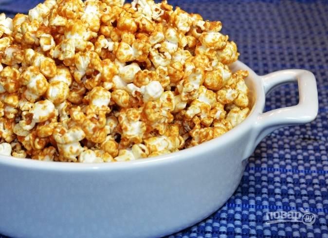 Попкорн с арахисовым маслом