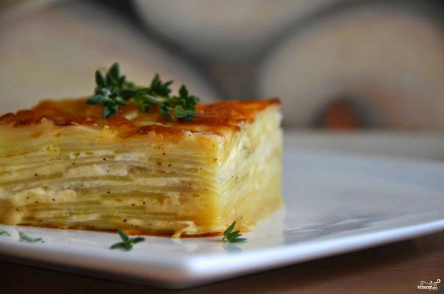 Детская картофельная запеканка с сыром