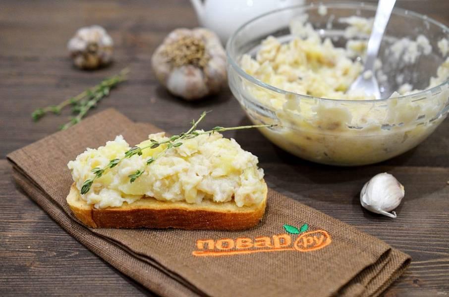 7. Подавайте брандаду на жареных тостах. Приятного аппетита!