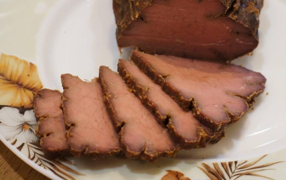 4. И вот такое сочное и вкусное мясо мы в итоге получаем! Думаю, вам понравится. Дерзайте!
