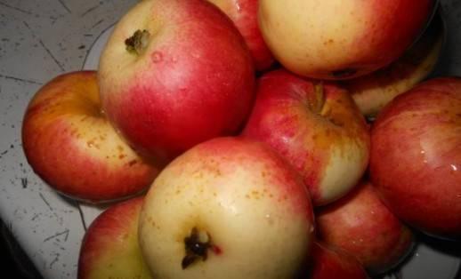 1. Отберите прочные и спелые яблоки. Промойте их тщательно под проточной водой.