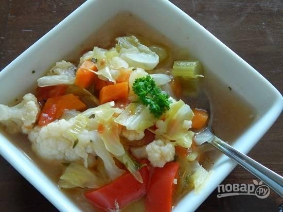 Суп получается довольно густым, если вам такой не очень нравится, просто добавьте больше воды.